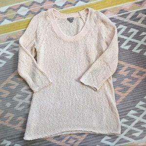 J.Jill • Peach Open Knit Sweater
